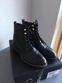 DUNE Black Leather Ladies/Girls Boots