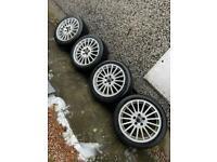 Volvo alloys brand new tyres