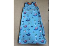 Grobag Sleeping bag from John Lewis Blue Boats design 18-36m 2.5tog