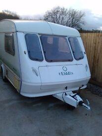 px Elddis whirlwind 4 berth touring caravan and new awning ideal starter caravan