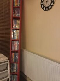 Book shelf with videos collection