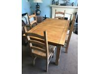 Mexican Pine Dining Room Rustic Table / Kitchen Rustic Table and 4 Chairs R150