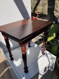 Lovely antique looking real wood side table