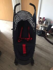 cosatto giggle stroller Polka dot blue white red bow
