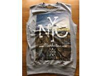 Men's NYC River Island shirtless T-shirt
