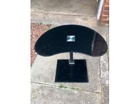 Black glass side table for £5