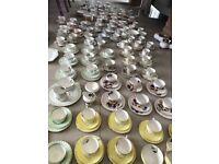 Vintage tea cups, saucers, side plates etc