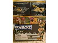 Hozelock 130 patio and pressure washer with hose pipe.