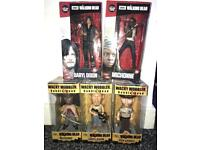 Walking dead figures/ bobble heads