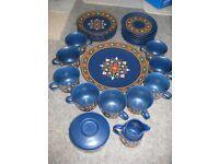 Vintage Winterling Schwarzenbach Bavaria West Germany Cobalt Blue Tea Set - 27 Pieces