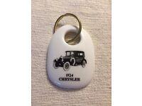 1988 Royal Doulton Bone China 1924 Chrysler Keychain