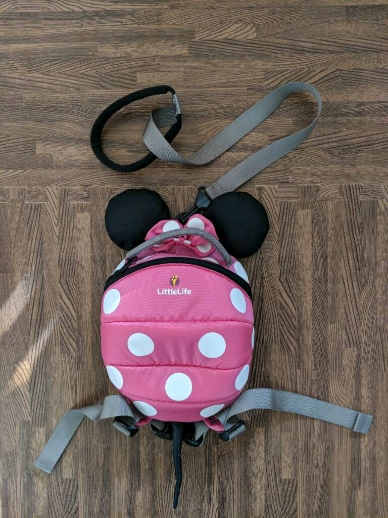 51bfd840b7c Baby LittleLife Minnie Mouse Bag Rucksack Backpack Reins Toddlers Infants Girls  Pink Harness Disney