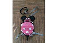 Baby LittleLife Minnie Mouse Bag Rucksack Backpack Reins Toddlers Infants Girls Pink Harness Disney