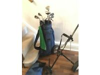 Ladies Top Flights Golf clubs with trolley and bag