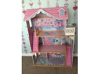 Elc dolls house and furniture for barbie size dolls