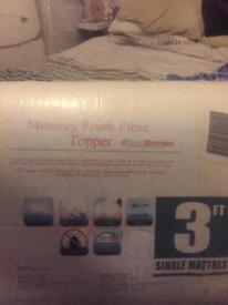 Brand new still in sealed packaging single rolled memory mattress