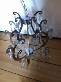 silver chandelier ceiling light £20