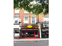 FULLY VACANT FREEHOLD INVESTMENT FOR SALE WITH COMMERCIAL A3 USE & SPLIT LEVEL 6 ROOM 2 BATH FLAT