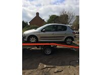 2004 Peugeot 206 s 5dr Hatchback Petrol 1.4L Silver BREAKING FOR SPARES