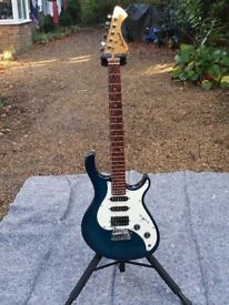 Aria Pro II 24 Fret Electric Guitar in Mint Condition. Full Pro Setup. Low Fast Action. Sounds Fab!