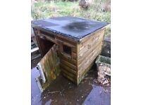 Wooden Dog Kennel ...width-30 inches -height-36 inches-depth-36 inches ....