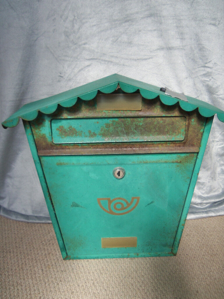 External Lockable letter box shabby chic project