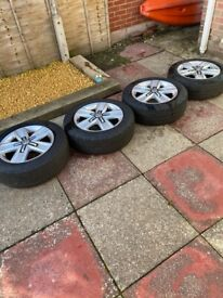 """VW 17"""" Alloy Wheels with Continental Contivancontact 200 Tyres for sale"""