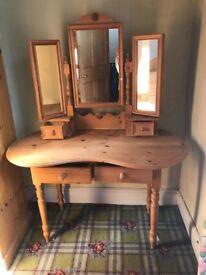 7 piece Solid pine bedroom furniture