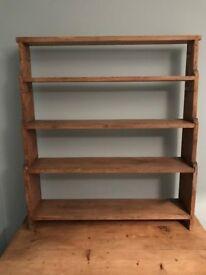 Vintage wooden shelving