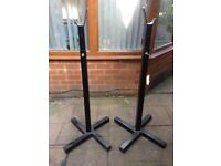 Cast Iron Weights/Squat Stands/ Barbells