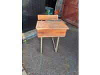 Old school desk and seat