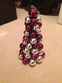 Bauble Christmas Tree Table Decoration