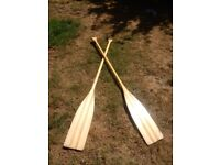 Vintage Wooden Paddle Oars Kayak Canoe Boat Display Tall 151 cm