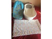 Baby bath seats & changing mat