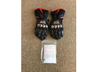 Dainese Full Metal D1 Titanium and Carbon Fibre Motorcycle Gloves Size XXL