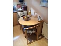 Fold out dining table with 4 chairs, Strathaven collection only