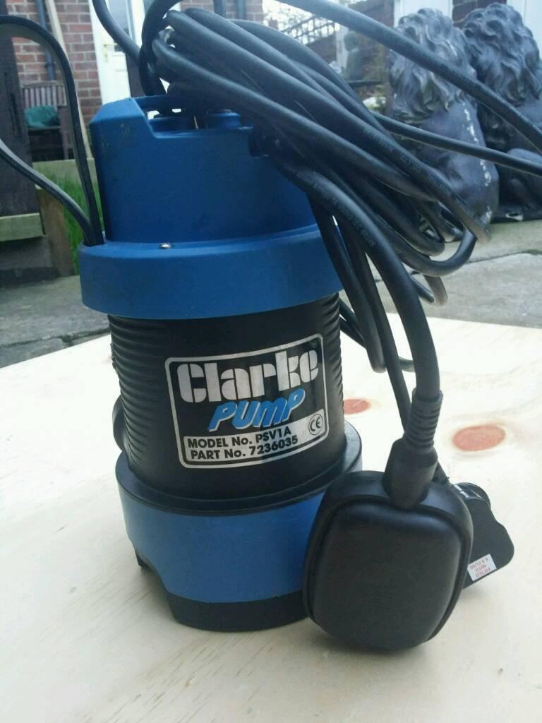 Clarke pond/sump water pump