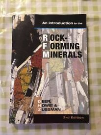 TEXTBOOK: An Introduction to Rock Forming Minerals 3rd Edition by Deer, Howie and Zussman (2013)a