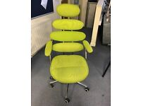 Lime green with black mesh office chair