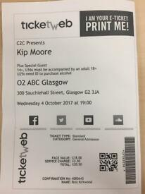 1x Kip Moore Ticket at o2 ABC, Glasgow, 4/10/17