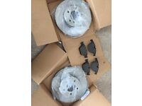 Brand new BMW 5 Series front brake discs and pads