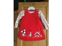 TU Red Festive Outfit - 3-6 months