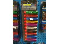 10pc 1/2 deep coloured sockets