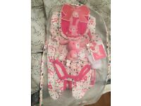 7 piece baby girl set