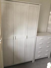 Full Bedroom set with bed frame - used in good condition