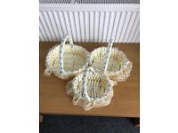 Three basket large medium and small