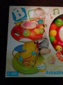 New with box B Kids Rolling 'n' Blinking Amazing Mushroom Baby Activity Centre NEW RRP £50