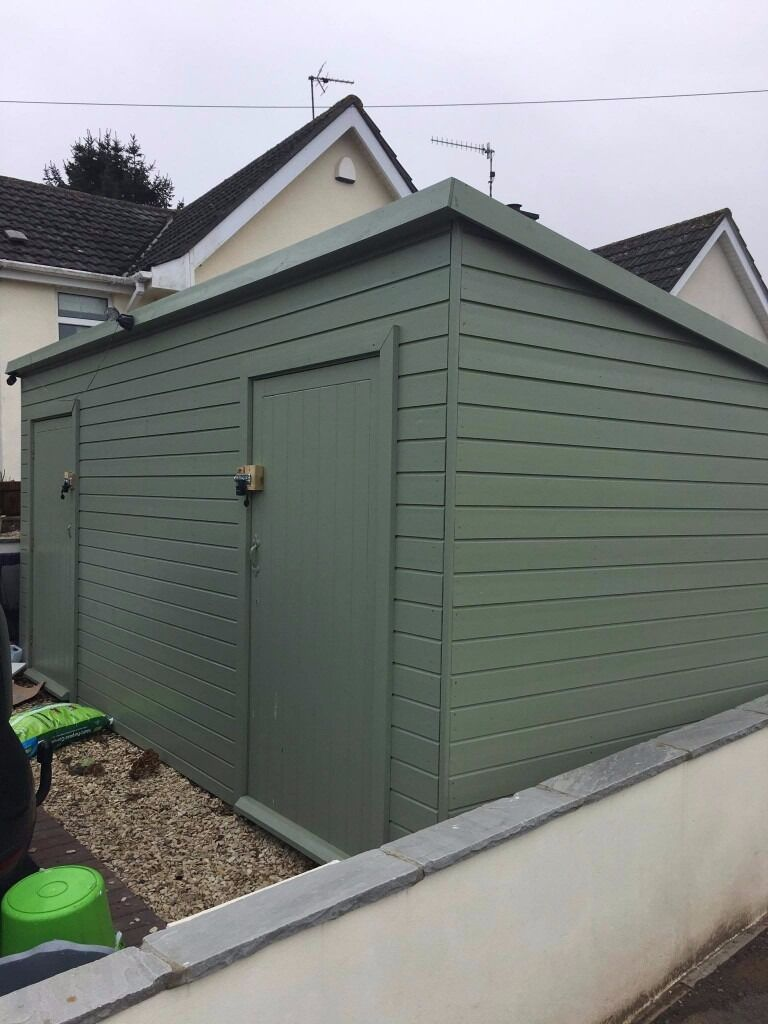 Garden Sheds 2m X 2m garden shed/log cabin 5m x 2m treated and painted only 6 months
