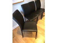 4 x John Lewis Black Dominique Dining Chairs