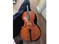 Cello - full size, with bow.